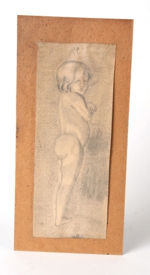 Early nude drawing signed Matilson