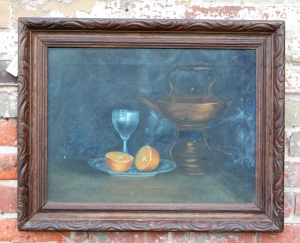 Early oil on canvas still life