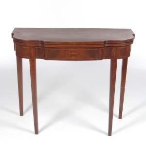 Federal style inlaid card table in mahogany circa 1900