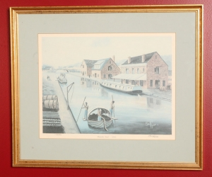 Buck Tyree print of Kanawha Canal 179/500