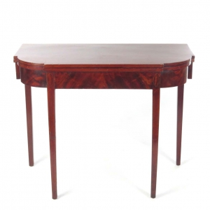 SOLD: 19th century inlaid card table in mahogany