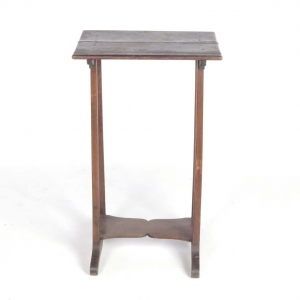 19th century country walnut end table