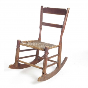 Primitive 19th c child's rocking chair