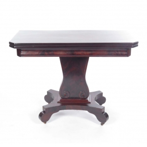 SOLD: 19th century Empire game table in mahogany