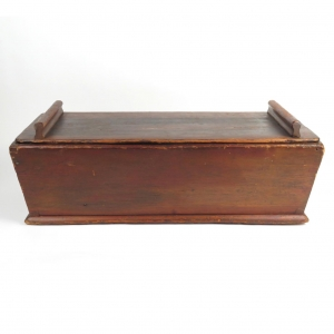 SOLD: 19th century primitive pine dough box