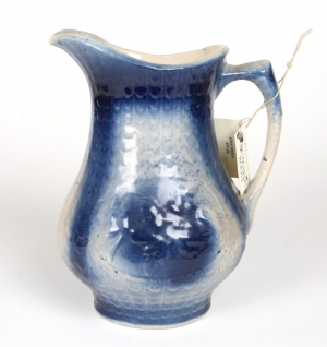 *Early blue and white salt glazed pitcher