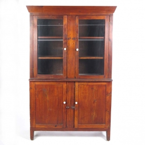 SOLD: 19th century primitive pine wall cupboard