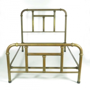 SOLD: Antique full size brass bed