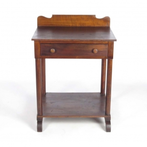 SOLD: 19th century tiger maple wash stand