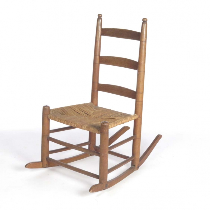 Sensational Primitive Country Rush Seat Rocking Chair Buzzards Roost Caraccident5 Cool Chair Designs And Ideas Caraccident5Info
