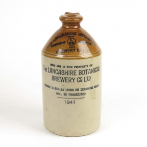 English stoneware flagon, The Lancashire Botanical Brewery Co.