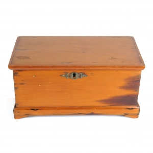 SOLD - Antique 18th c miniature blanket chest