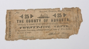 *Augusta County Civil War era fractional note