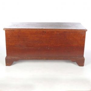 SOLD: 19th c primitive pine blanket chest