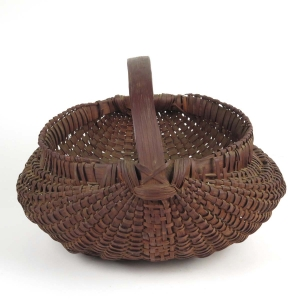 Antique splint buttocks basket