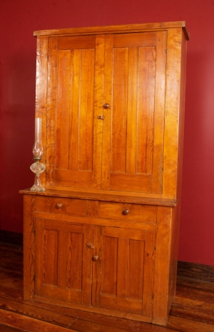 SOLD - Early 19th c Southern pine wall cupboard