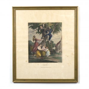 "Antique Boydell print ""October"" W. Hamilton"