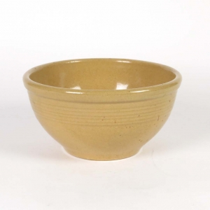 Vintage medium yellow ware bowl marked 12