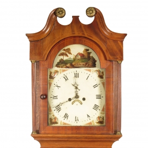 SOLD - Antique 19th century English long case clock