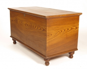 SOLD - Antique 19th c grain painted blanket chest