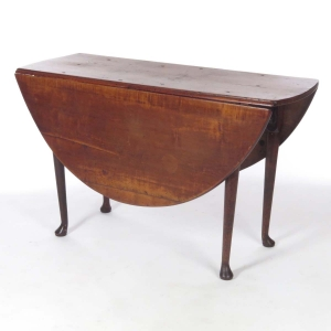 18th century tiger maple Queen Anne gate leg drop leaf table