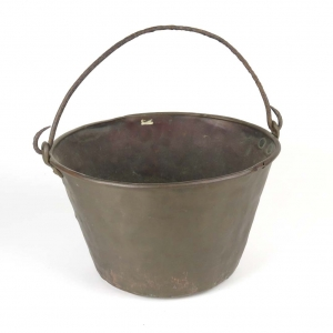 Antique hand forged jelly kettle