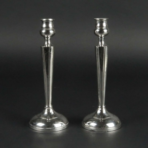SOLD: Pair vintage weighted sterling silver candlesticks