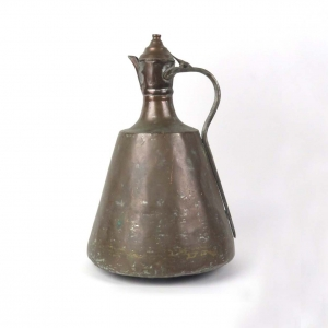 Antique Turkish copper tone metal jug