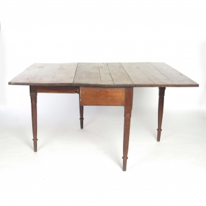 Antique Walnut Turned Leg Drop Leaf Table