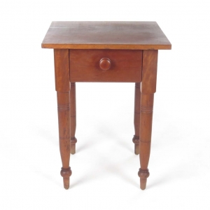 19th c. one drawer work table