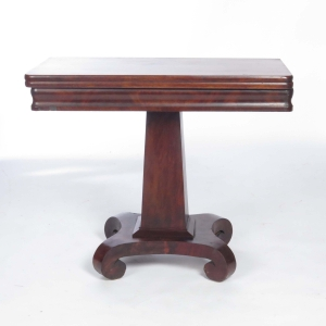 Antique Mahogany Empire games table