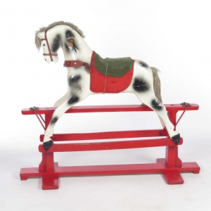 Antique painted toy riding horse