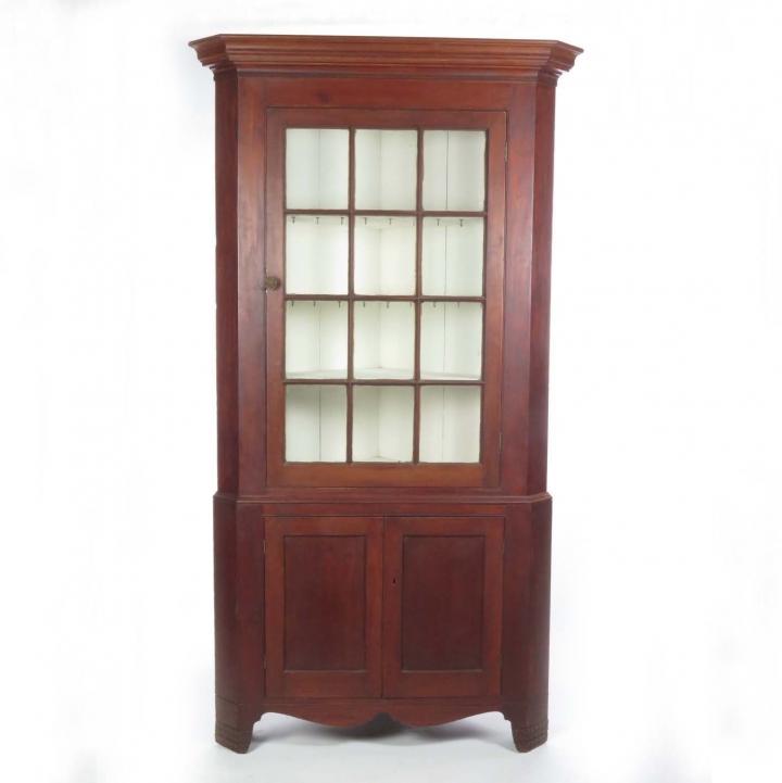 1d3c1b904ddb SOLD  Antique 12 pane glass door Southern corner cupboard - Buzzards ...