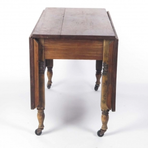 SOLD: 19th century cherry drop leaf dining table