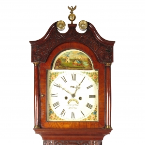 19th century English long case clock L W Wells Foney